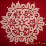 Napkin with pasts. Viatka style lace