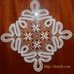 Square napkin. Viatka style lace