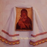 Towel. Mikhailov style lace