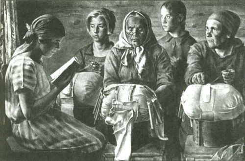 Fig.2.3. Kalyazin lace makers (Е.А.Katsman, 1928)