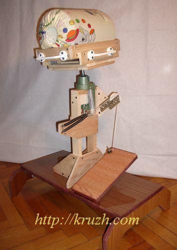 Рис.2.29. Подставка с валиком диаметром 28 см. «Лыжи» поставлены на ребро